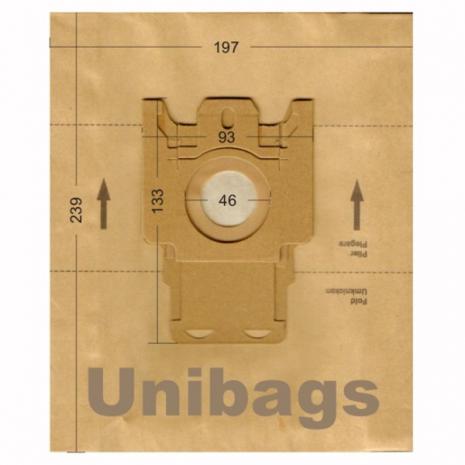 Σακούλες για  HOOVER, ECOCLEAN, FILTERCLEAN, HANSEATIC, HQ, MALAG, OTTO, SWIRL. Primato 1476